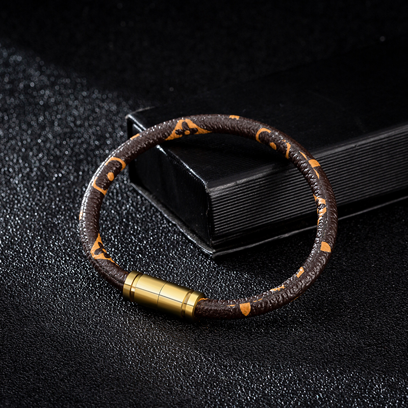 2020 Simple Animal Print mens Leather Bracelet his and hers bracelets couple fashion bracelet accessories