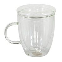 Made in China 300ml double wall glass with handle