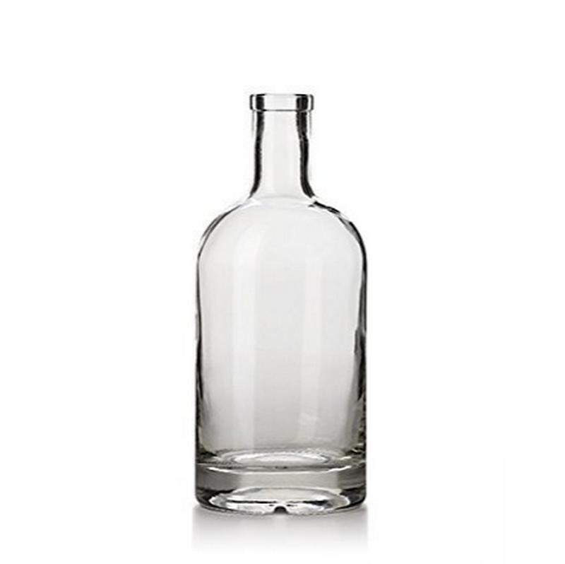 Avertan xuzhou empty 500ml 750ml 1 liter glass vodka bottle with wooden cork for liquor