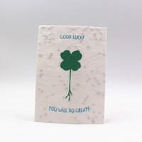 Water can germinate seed paper creative Green printed seed paper, seed paper of various colors can be customized