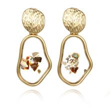 Женские креативные золотые серьги, винтажные свадебные украшения, вечерние ювелирные украшения на годовщину, 2019(Китай)