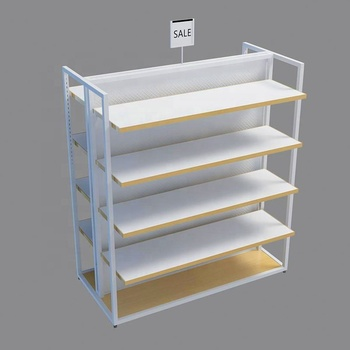 Professional MDF Dress Racks White Baking Paint Clothing Store Furniture