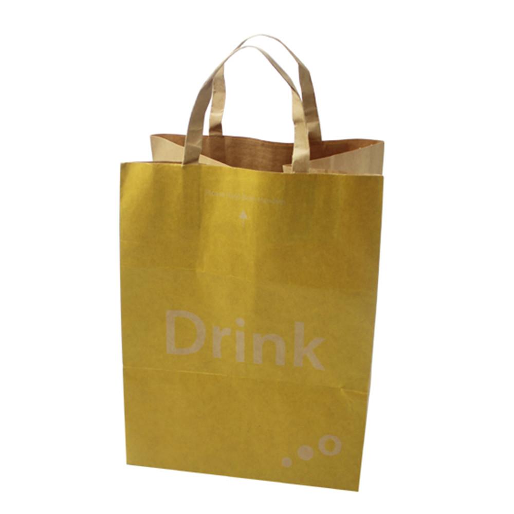 fast food packing paper bags brown kraft paper bags for