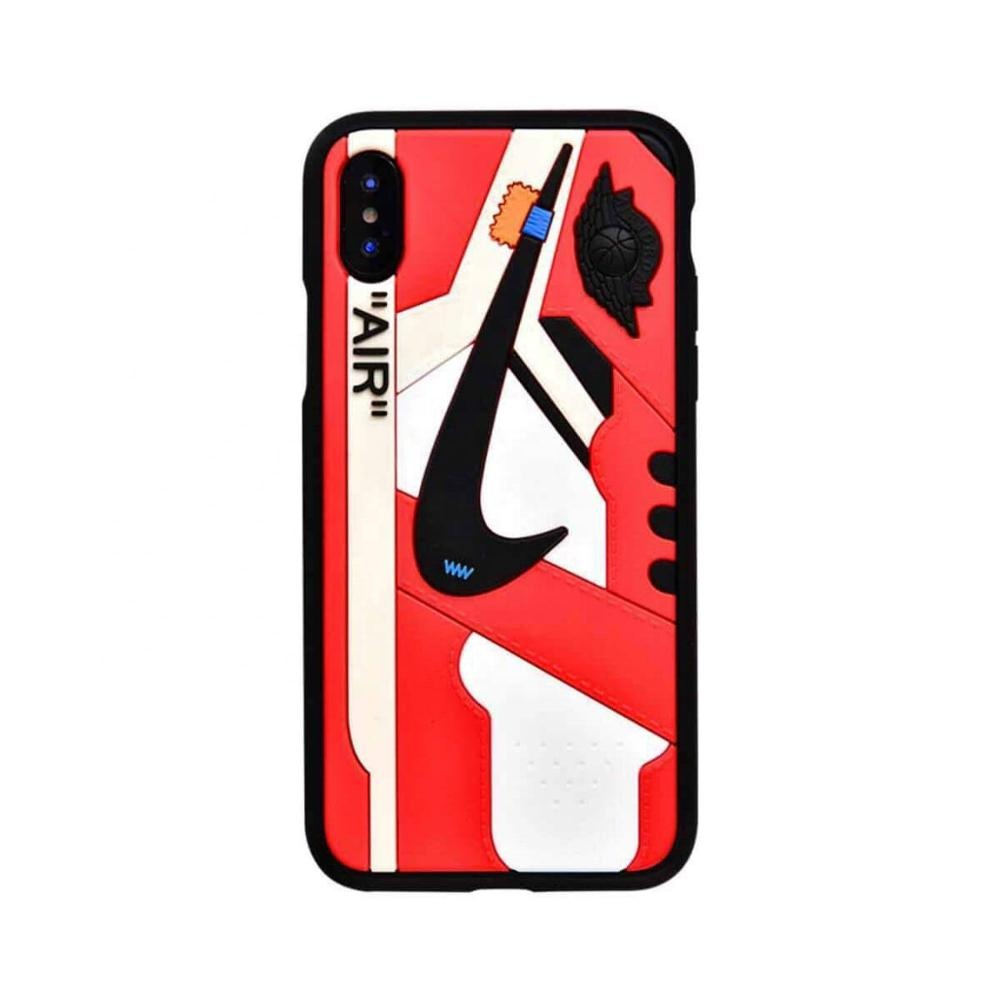 Mode AJ turnschuhe iphone xs max handy fall für apple 6/7/8 plus anti-herbst silikon telefon fall