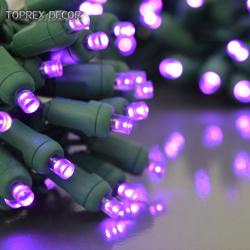 Outdoor waterproof white color 5mm wide angle led light string for christmas tree decor