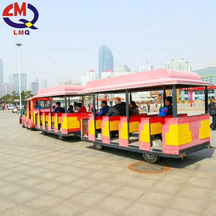 Amusement park kiddie road rides 24 seats trackless train for sale