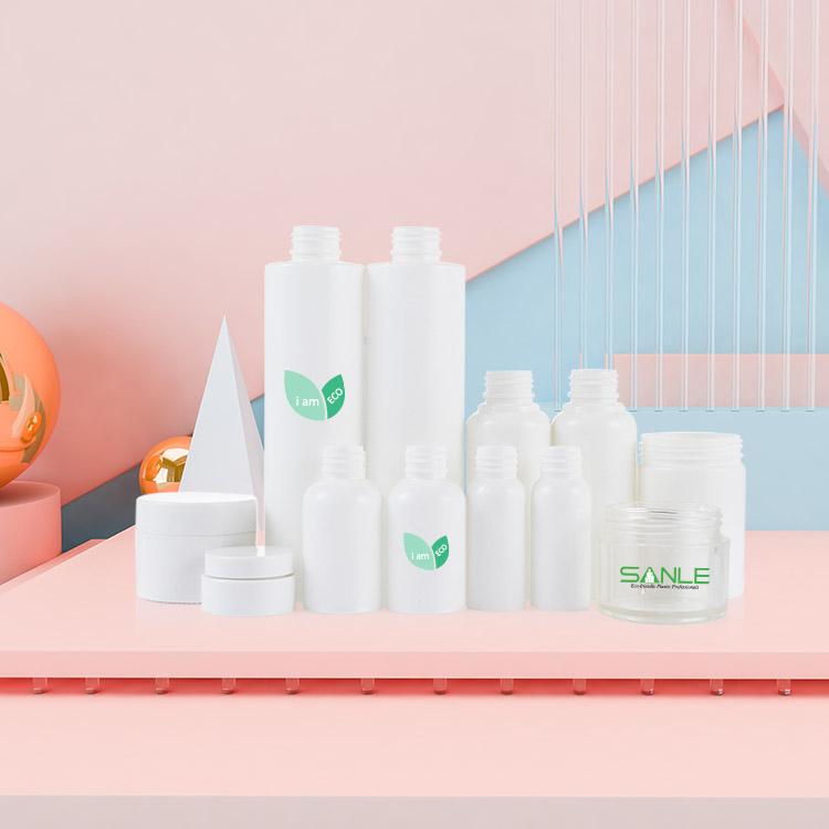 100% biodegradable compostable pla cosmetic round bottle shampoo bottle