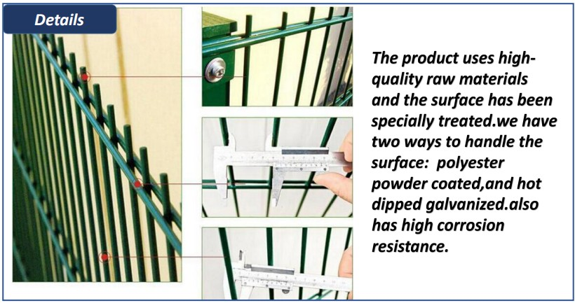 High strong security 868/656 fence panel for home and garden