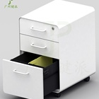 Graphic Customization HD035 Steel Curverd 3-drawer Mechanical Office Mobile Pedestal Filing Cabinet