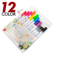 12pack dual tip fine liners watercolor kids paint brush pen with micro needle tip