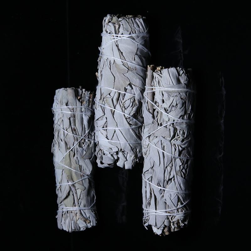 Wholesale 50g with petals incense dried leaf bundles stick californian white sage smudge
