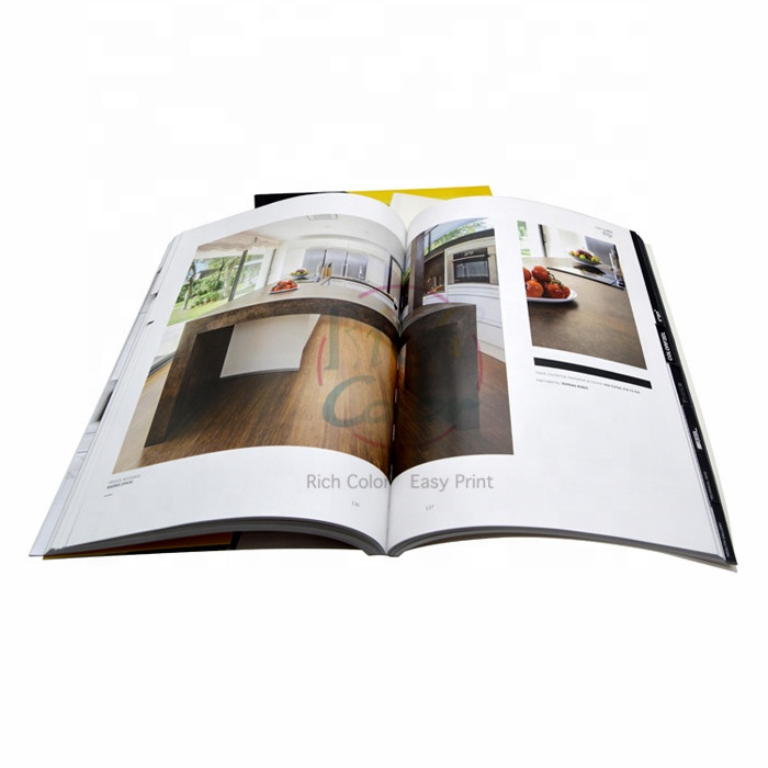 Custom LED light furniture catalogue offset printing for advertising
