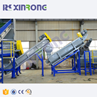 PE bag crushing washing equipment recycling pelletizing machinery