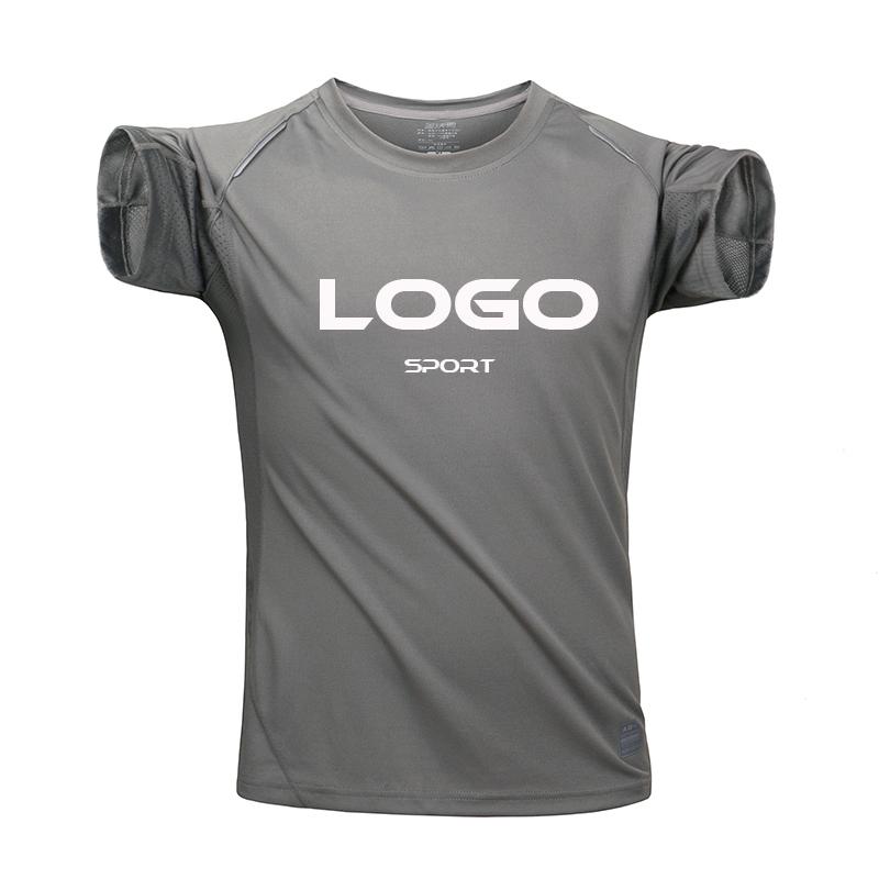לא MOQ יוניסקס ספורט t חולצות לוגו מותאם אישית הדפסת יבש fit רגיל ריק t חולצה