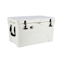45qt Large Ice Chest Cooler Fish Box Fishing Insulated Chest Cooler