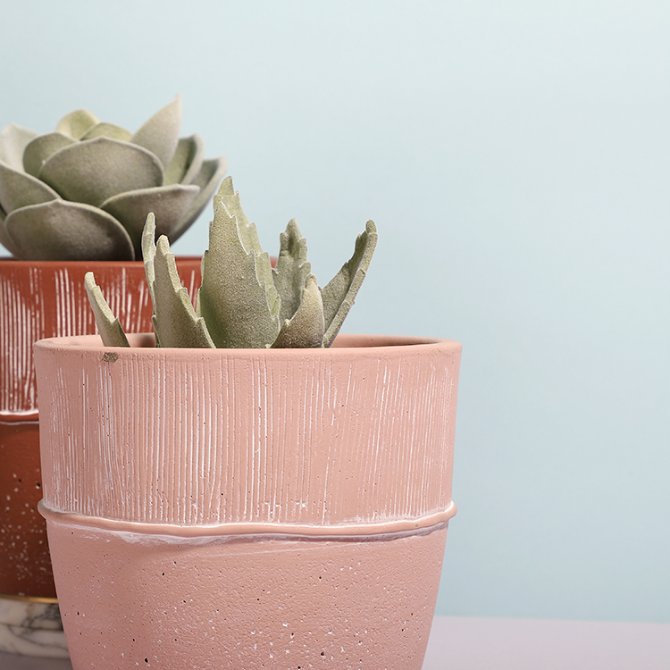 Cheap price fancy matte custom color concrete planter home decor cement mini succulent pots for wedding decoration