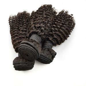 New Arrival Kinky Curly Double Layers Natural Color Remy Russian Human Virgin Hair