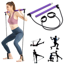 Di Vendita calda Portatile Pilates Bar <span class=keywords><strong>Yoga</strong></span> Esercizio Bar, Piede Ad Anello Tonificante Bar Nylon Loop Pilates Kit Bastone \