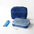 5 compartment plastic removeable Bento lunch box BPA-Free For kids