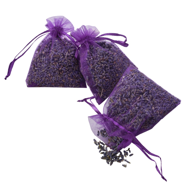 Best Selling Wardrobe Fresh Potpourri Organza Bags Dry Lavender Scent Sachet for home