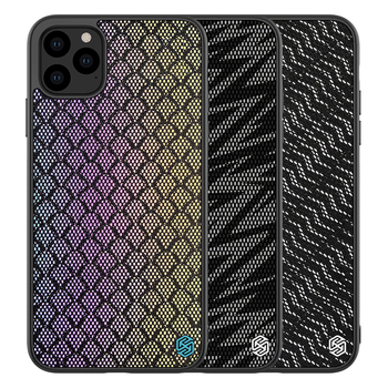 Nillkin Brand Hybrid TPU Bumper Woven Polyester Mesh Hard PC PU Back Cover Phone Case For iPhone 11 For iPhone 11 Pro Max