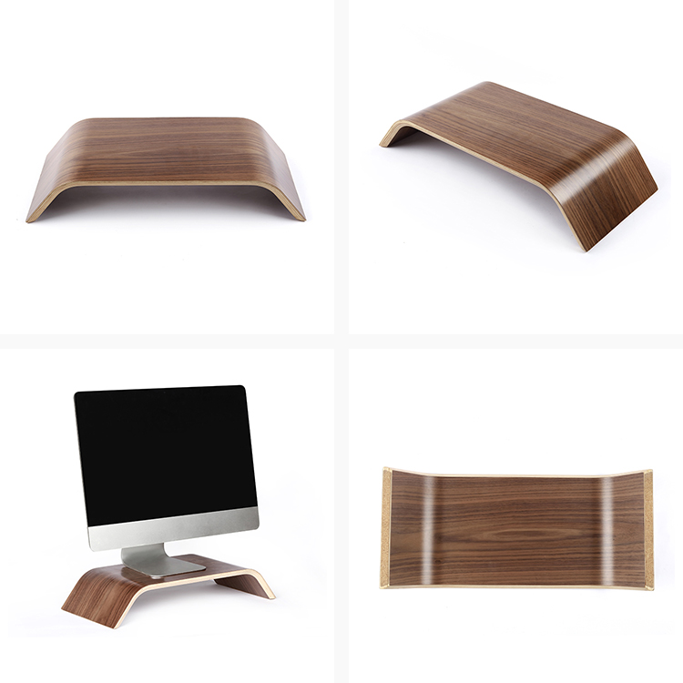 Custom Cheap Black Walnut Wooden Laptop Stand Computer Stand Desk TV Monitor Riser For Office