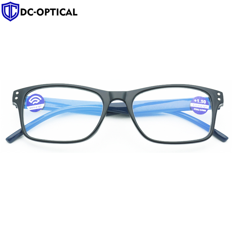 2020 Fashion Plastic Blue Blocking Reading Glasses Anti Blue Light Reading Glasses Computer Readers with Anti-Scratching Coating