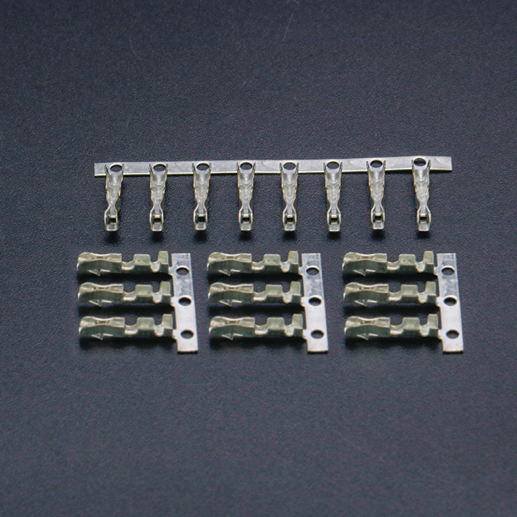 Crimp Terminal Brass Terminal Connector 2.5mm Pin Female Metal Small 4P Metal Stamping Wire Connector Terminal