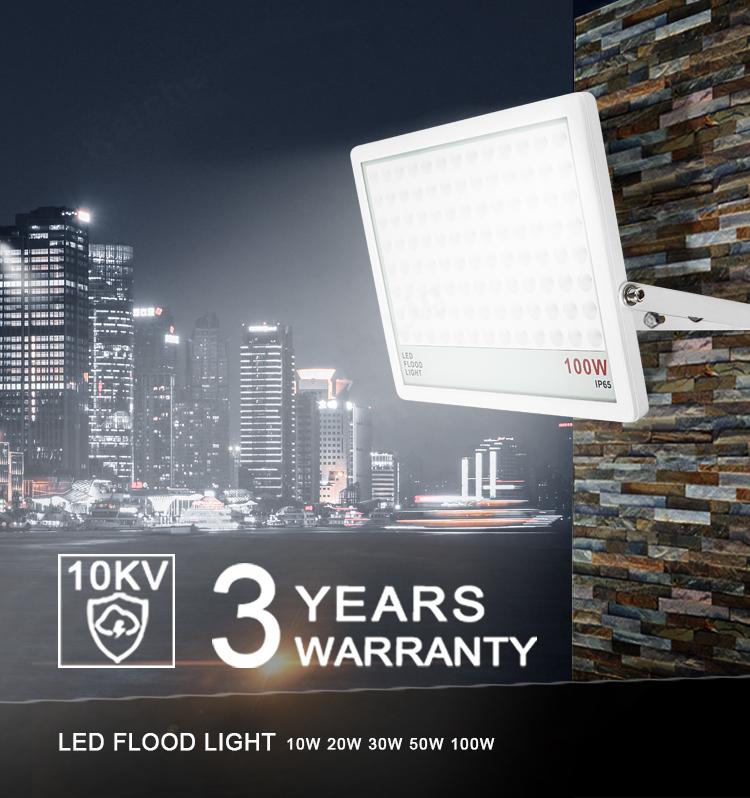 KCD Optical design slim LED flood light 50W with driver