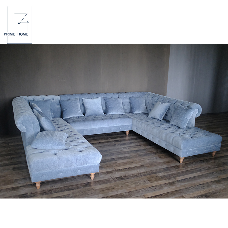 Chesterfield Sofa Wood Sectional