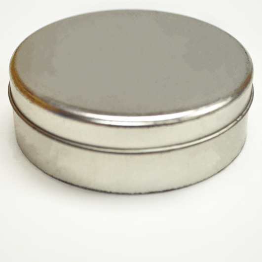 Metalen Ronde Leuke Zeep tin box/container, vlakte Kaars Tin, vlakte Tin Case