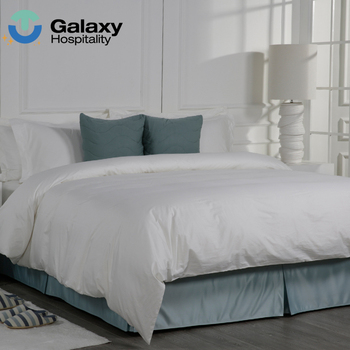 Natural Cotton White Fitted Strip Satin Bed Sheet Queen Size Bed Linen Hilton Hotel Bedding