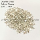 Glass Cullets Silver Glass Cullets For Landscaping Glass Mulch Terrazzo Epoxy Floor 1-3mm