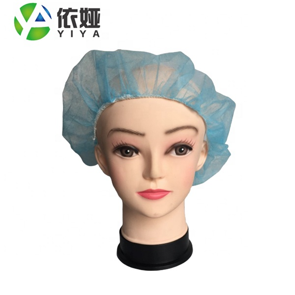Light-weight and breathability elastic edge disposable protective head cover