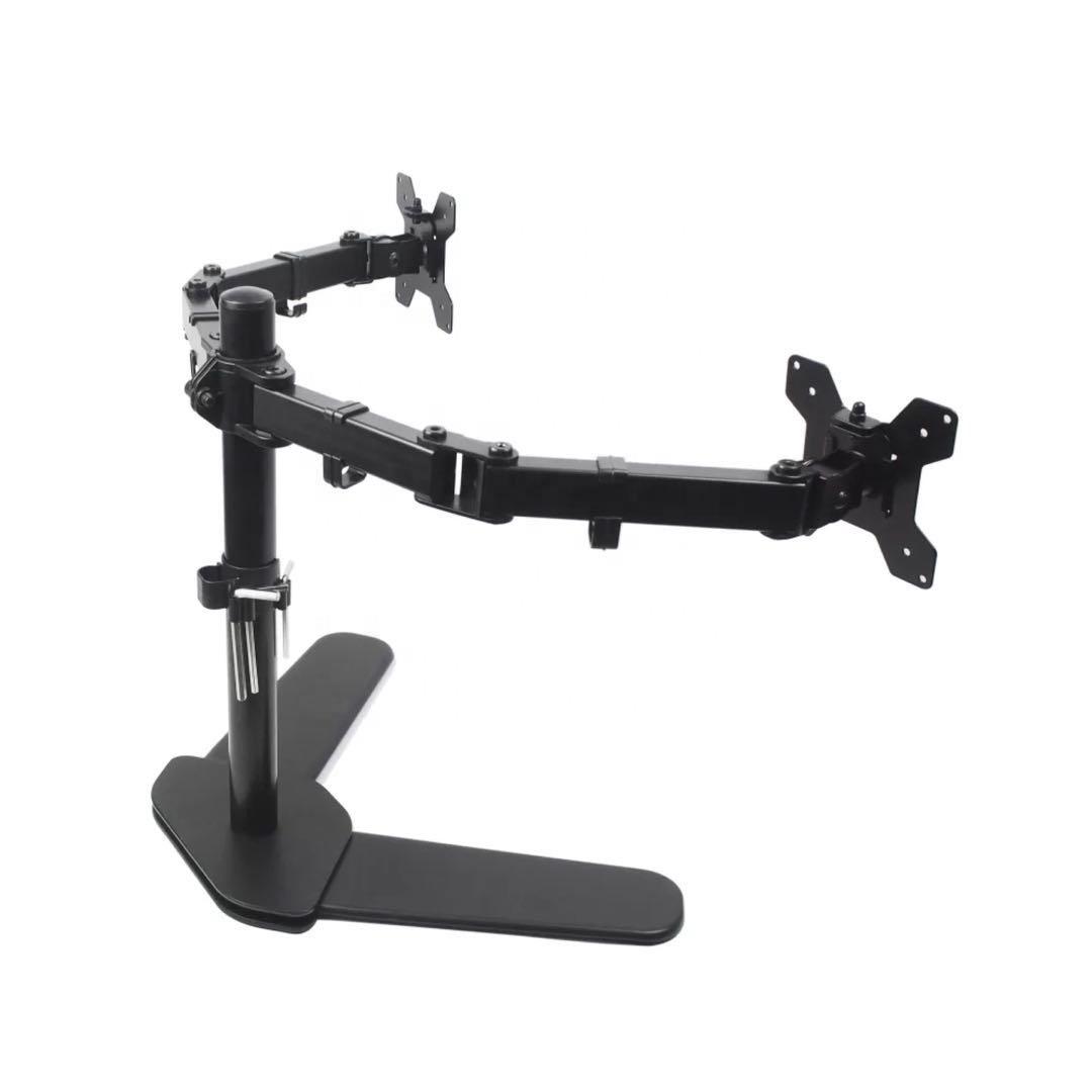"""Área de trabalho Longo braço oscilante Kinbay suporte 13 """"-27"""" 75 100 vesa monitor dual stand"""