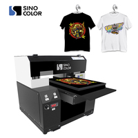 China Made Factory Direct Sale A3 Size DX7 Printhead DIY Digital Direct DTG Printer For Any Color Tshirt