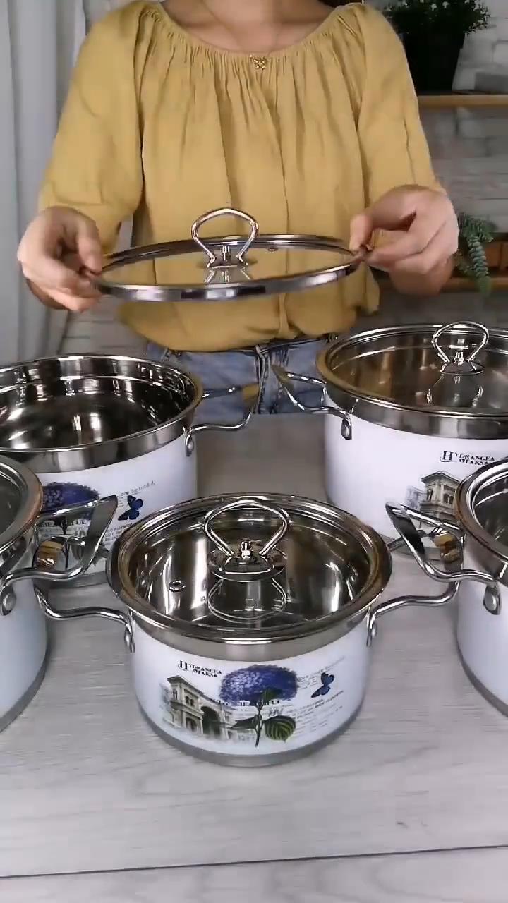 Королевский силикон, поставка из Китая, большие размеры, кухонная посуда из нержавеющей стали с антипригарным покрытием, наборы посуды