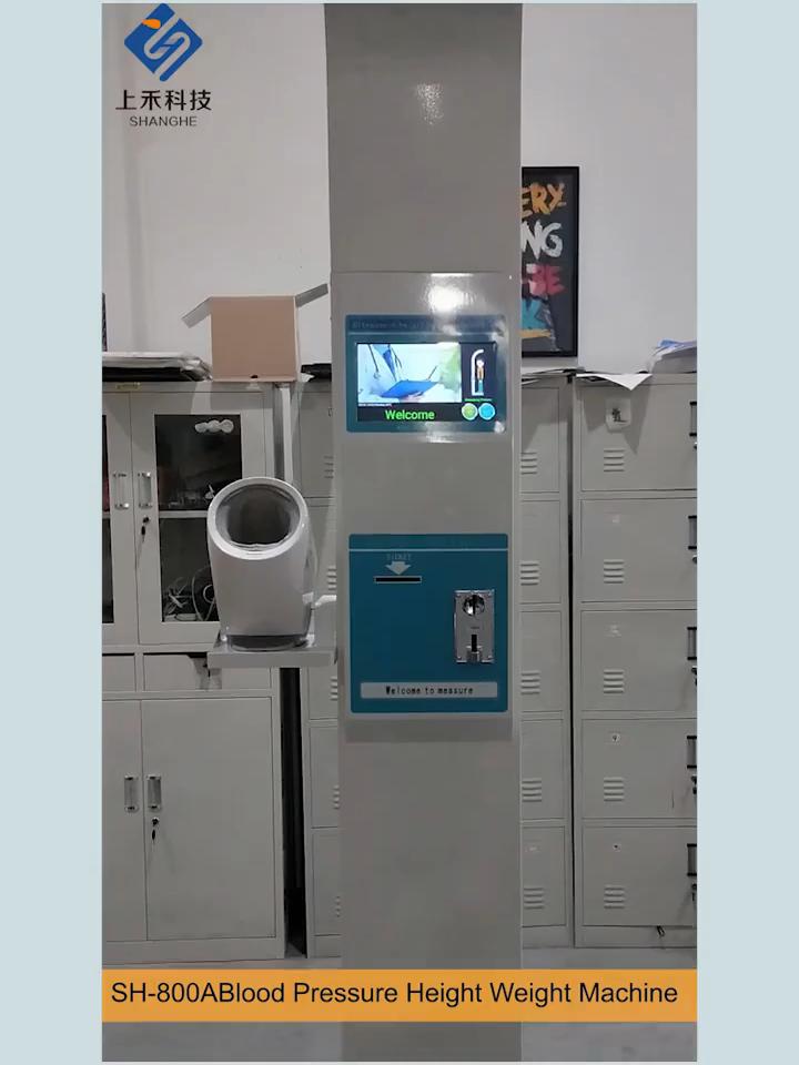 Tinggi Berat Bmi Skala dengan Printer Koin Fungsi Tubuh Medis Tekanan Darah Bmi Sehat