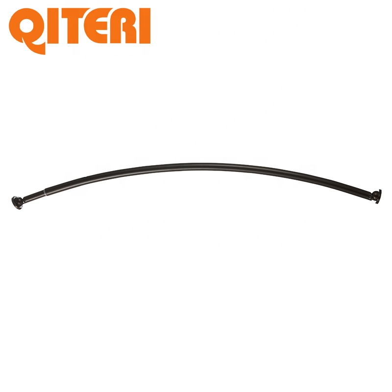 Contemporary steel shower curved permanent curtain rod