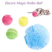 Hot Amazon Household Products Pet Products Pet Toys Electric Magic Roller Ball Toy For Dog Cat Pet Fluffy