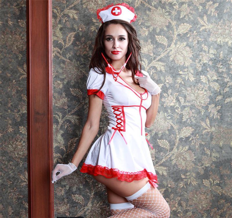 Women Nurse Dress Babydoll Cosplay Sexy Hospital Costume Lingerie Sexy Hot Erotic Sexy Uniform Nurse Halloween Role Play