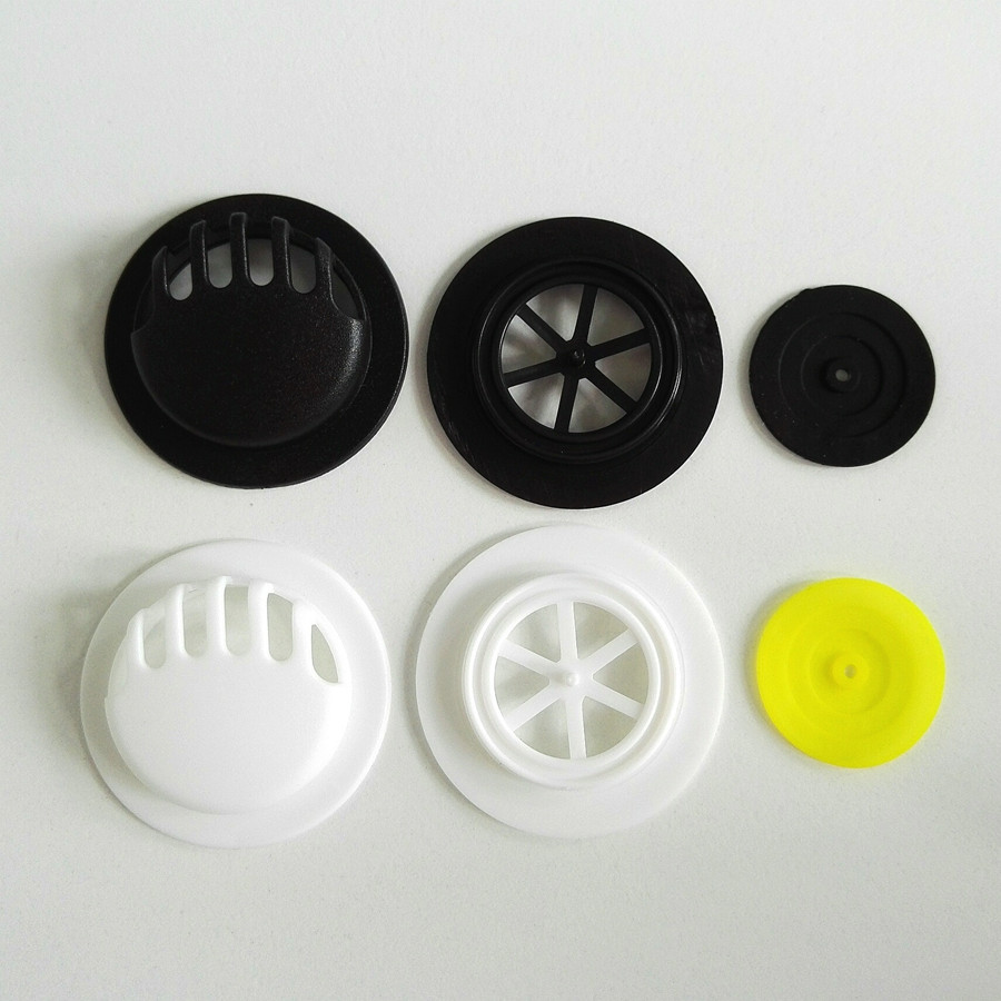 Stock durable Black colors facemask plastic exhaust One way breath valve with rubber film for facemask