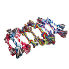 Wholesale customization cute pet gift cotton rope toys dog bite cotton knot