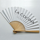 [I AM YOUR FANS] Sufficient stock ! Party gift Luxury large size double sides paper hand fan wedding favors