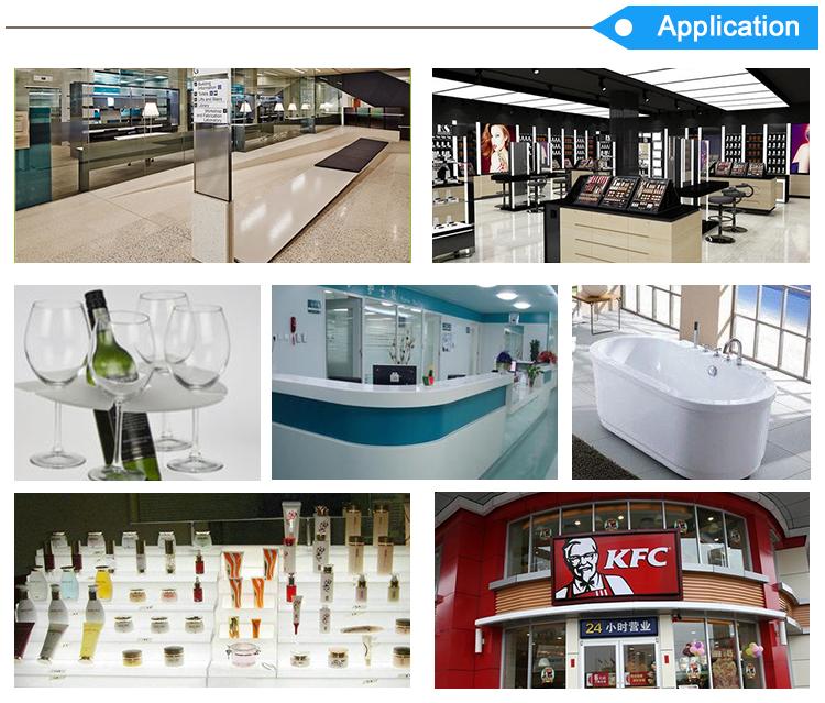 JINBAO porte-nom de bureau pièces verre transparent 4ft x 8ft clair feuille de plexiglas acrylique pour la publicité