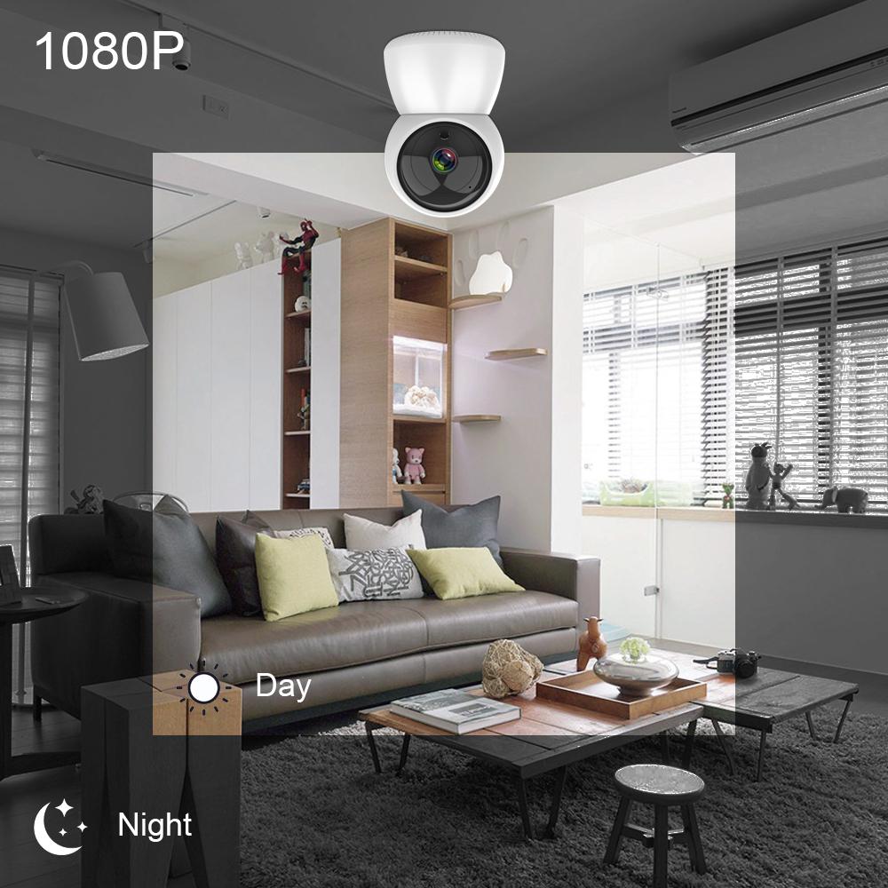 Camera IP Không Dây Trong Nhà C24 HD 1080P Thông Minh Tuya Mới 3.6Mm Giám Sát Em Bé Âm Thanh Hai Chiều Tầm Nhìn Ban Đêm WiFi Camera T