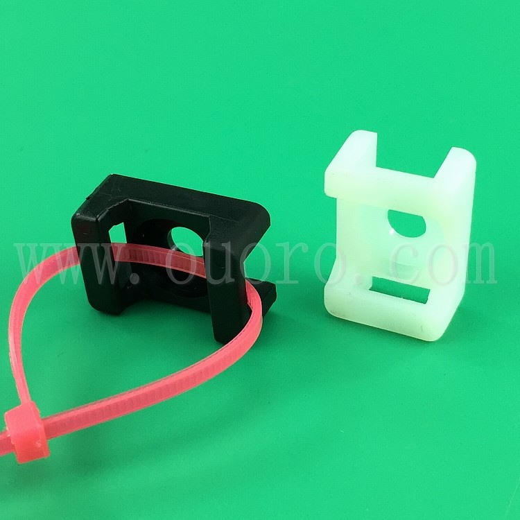 OUORO wholesale factory manufacturer nylon self adhesive cable tie mount base