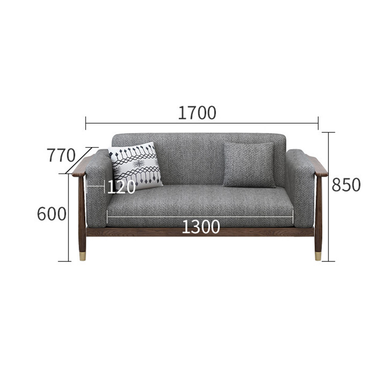 product-home furniture hot sale ins nordic simple design customizable durable walnut color sectional-1