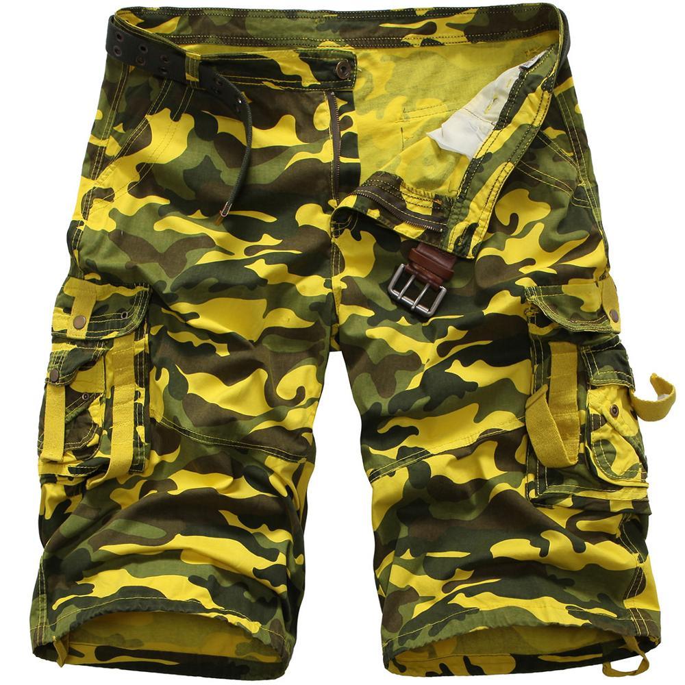 Chino Hommes Short Camouflage Cargo Combat Demi Pantalon Été Militaire Randonnée