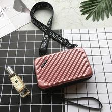 Новинка, сумка-клатч в форме чемодана, Женская Роскошная сумочка, для женщин, известный бренд, клатч с буквенным принтом, мини-сумка в коробк...(Китай)
